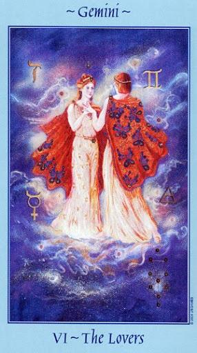 Lá VI. The Lovers - Celestial Tarot