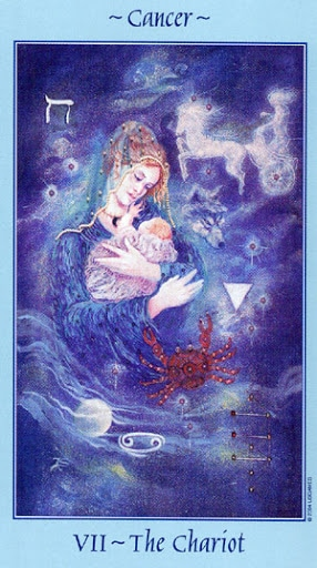 Lá VII. The Chariot – Celestial Tarot