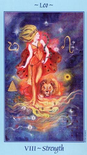 Lá VIII. Strength - Celestial Tarot