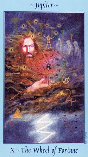 Lá X. The Wheel of Fortune – Celestial Tarot