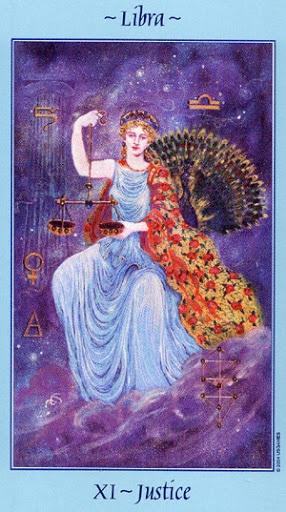 Lá XI. Justice - Celestial Tarot
