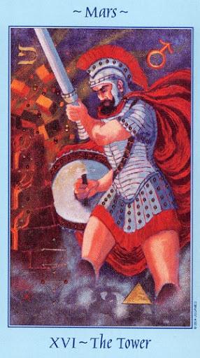 Lá XVI. The Tower - Celestial Tarot
