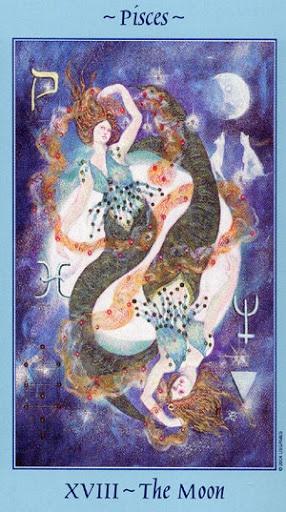 Lá XVIII. The Moon - Celestial Tarot