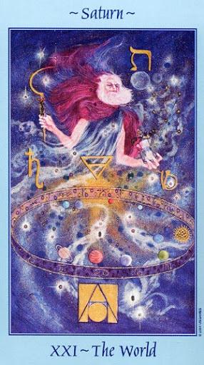 Lá XXI. The World - Celestial Tarot