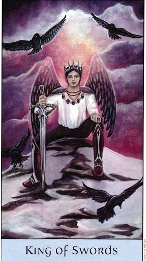 Lá King of Swords – Crystal Visions Tarot