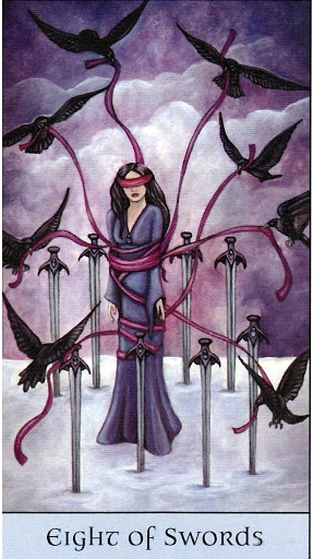 Lá Eight of Swords – Crystal Visions Tarot