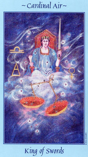 Lá King of Swords - Celestial Tarot