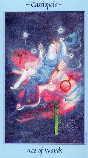 Lá Ace of Wands - Celestial Tarot