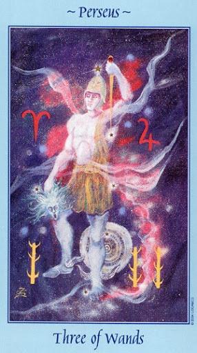 Lá Three of Wands - Celestial Tarot