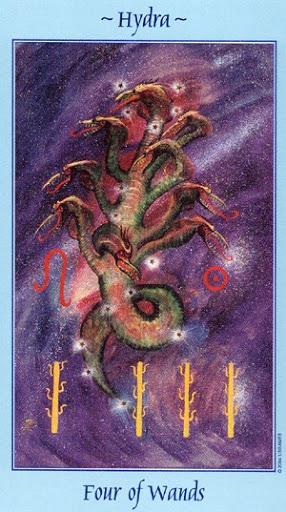 Lá Four of Wands - Celestial Tarot
