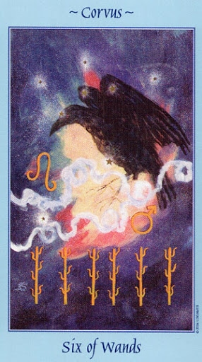 Lá Six of Wands - Celestial Tarot