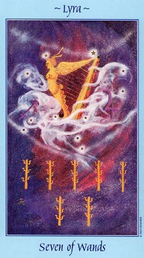 Lá Seven of Wands - Celestial Tarot