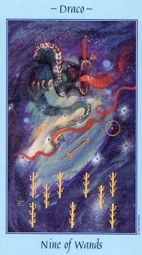 Lá Nine of Wands - Celestial Tarot