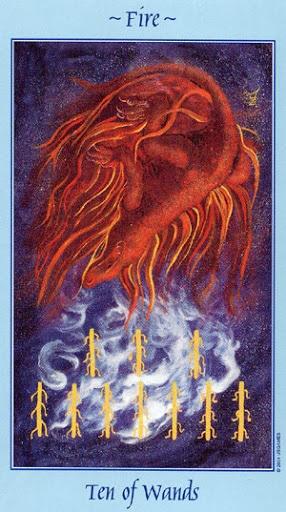 Lá Ten of Wands - Celestial Tarot
