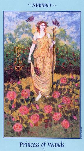 Lá Princess of Wands - Celestial Tarot