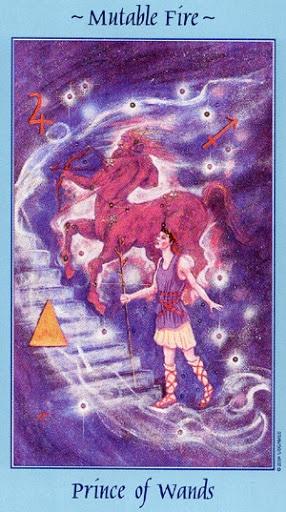 Lá Prince of Wands - Celestial Tarot
