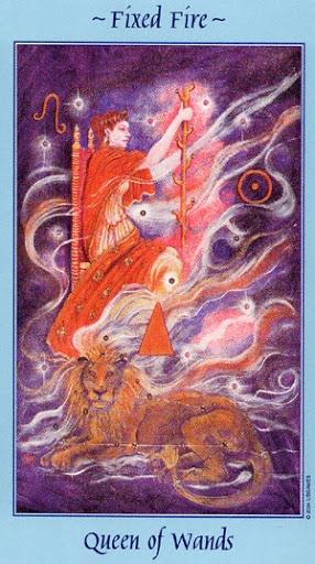 Lá Queen of Wands - Celestial Tarot