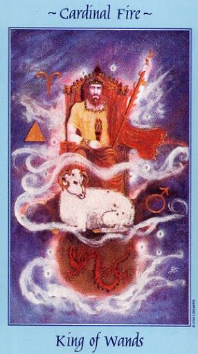 Lá King of Wands - Celestial Tarot