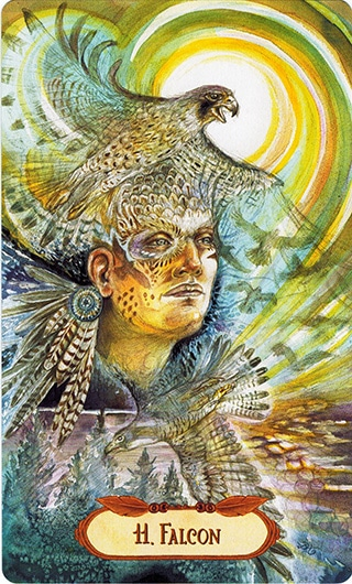 Lá 11. Falcon – Winged Enchantment Oracle