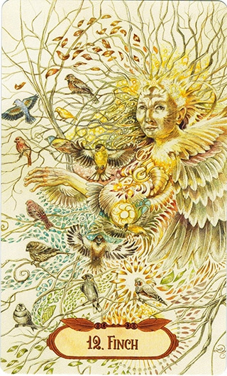 Lá 12. Finch – Winged Enchantment Oracle