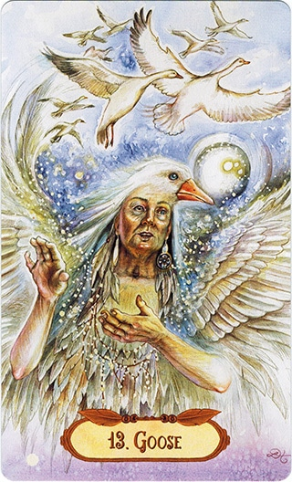 Lá 13. Gouse – Winged Enchantment Oracle