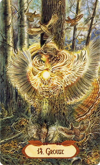 Lá 14. Grouse – Winged Enchantment Oracle