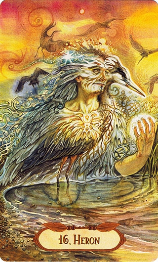 Lá 16. Heron – Winged Enchantment Oracle