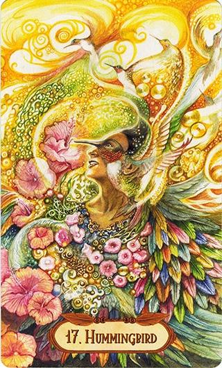 Lá 17. Hummingbird – Winged Enchantment Oracle