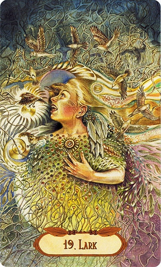 Lá 19. Lark – Winged Enchantment Oracle