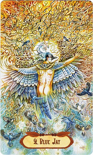 Lá 2. Blue Jay – Winged Enchantment Oracle