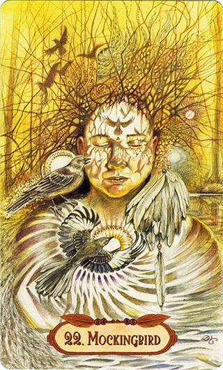 Lá 22. Mockingbird – Winged Enchantment Oracle