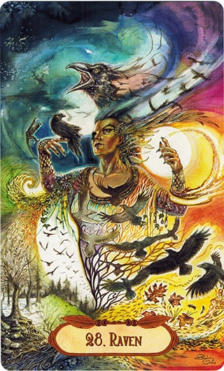 Lá 28. Raven - Winged Enchantment Oracle