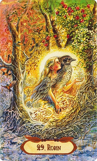 Lá 29. Robin – Winged Enchantment Oracle