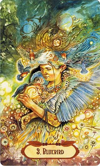 Lá 3. BlueBird – Winged Enchantment Oracle