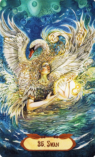 Lá 35. Swan - Winged Enchantment Oracle