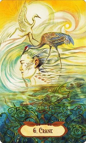 Lá 6. Crane – Winged Enchantment Oracle