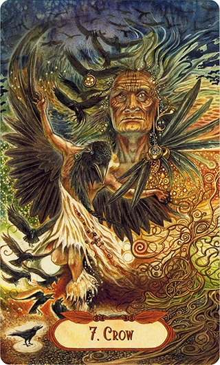Lá 7. Crow – Winged Enchantment Oracle