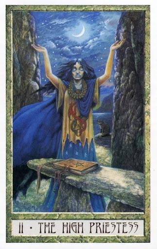 Lá II. The High Priestess - Druidcraft Tarot