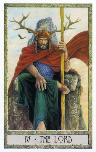 Lá IV. The Lord - Druidcraft Tarot