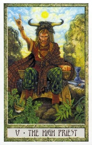 Lá V. The High Priest- Druidcraft Tarot