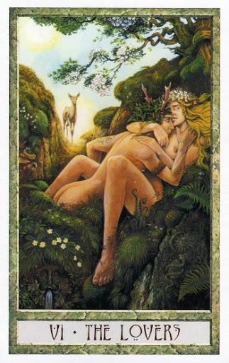 Lá VI. The Lovers - Druidcraft Tarot