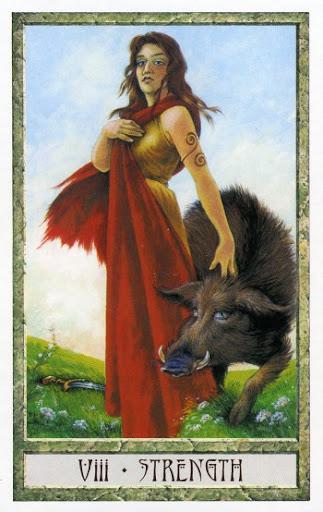 Lá VIII. Strength - Druidcraft Tarot
