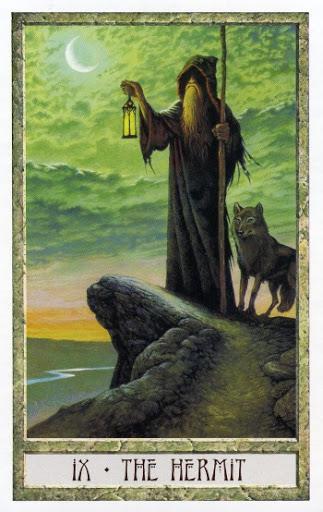 Lá IX. The Hermit - Druidcraft Tarot