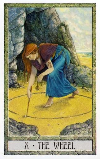 Lá X. The Wheel - Druidcraft Tarot