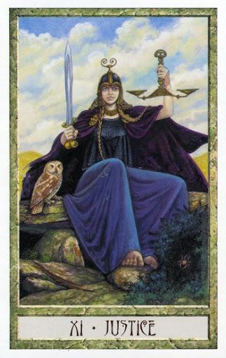Lá XI. Justice - Druidcraft Tarot