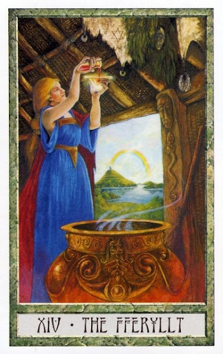 Lá XIV. The Fferyllt - Druidcraft Tarot