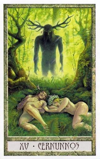 Lá XV. Cernunnos - Druidcraft Tarot