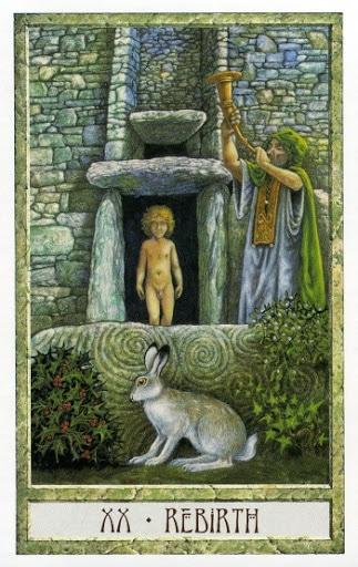 Lá XX. Rebirth - Druidcraft Tarot