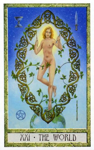 Lá XXI. The World - Druidcraft Tarot