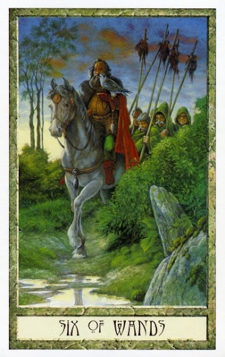 Lá Six of Wands – Druidcraft Tarot